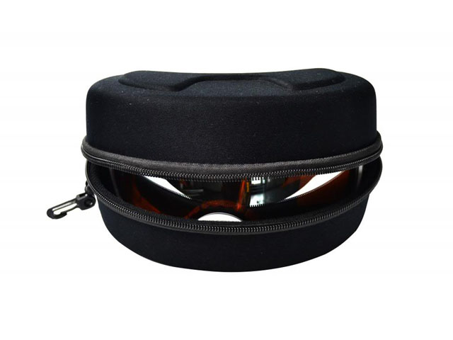 Unbranded EVA ski goggle holder case with plastic carabiner carrying various colors available in stock