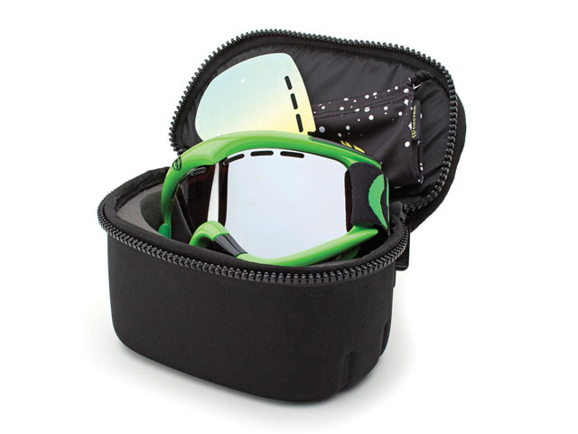 Electric Single snow Goggle bag pouch Case with hard bottomed and protective foam interior