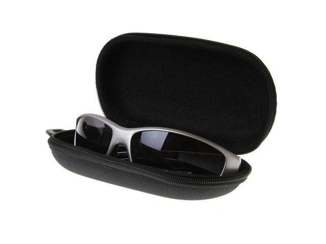 Unbranded cheap EVA sunglasses case with 1680D nylon fabric covering plastic rotate buckle lower MOQ